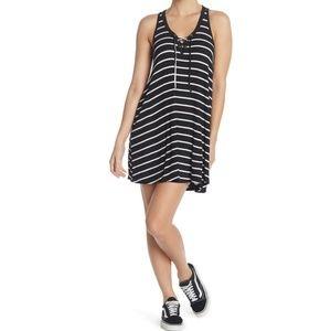 Billabong Easy Dreamin Striped Swing Dress Sz M